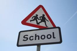 School road sign