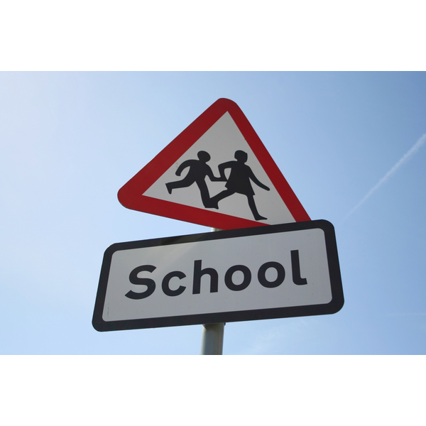 School road sign